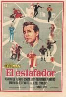 0087. Programa De Cine 1960. EL ESTAFADOR. Vitorio Gassman - Cine