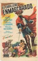 0088. Programa De Cine 1955. EL CABALLERO ENMASCARADO. Philip Friend - Cine