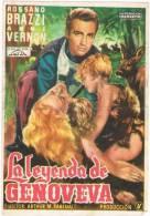 0090. Programa De Cine 1955. LA LEYENDA De GENOVEVA. Rossano Brazzi - Cine