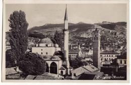 AK BOSNIEN  UND HERZEGOWINA BOSNIA SARAJEVO BEGOVA DZAMIJA   OLD POSTCARD 1933 - Bosnia And Herzegovina