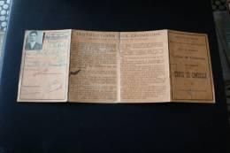 Caisse De Chômage Carte De Contrôle Ave Super Cachets De Contrôle Divers Emblemes CGT ->1932 (instructions Aux Chômeurs) - Historical Documents