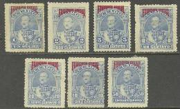 ECUADOR Alte Steuermarken Stempelmarken Revenue Tax Stamps Mit Überdruck 1892 (*) - Equateur