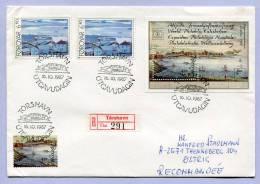 FDC Einschreibebrief Färöer Foroyar HAFNIA 87 Torshavn Views 1987 (159) - Färöer Inseln