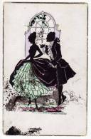 SILHOUETTE A COUPLE THE DANCE WECO Nr. 544 OLD POSTCARD - Silhouette - Scissor-type