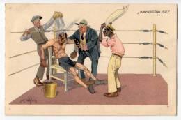 "SPORTS BOXING ""FIGHT BREAK"" B.K.W.I. Nr. 278-1 OLD POSTCARD - Boxing"