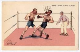 "SPORTS BOXING ""ONE LEFT EYE"" B.K.W.I. Nr. 278-3 OLD POSTCARD - Boxing"
