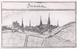 Foto Von 1960: Brackenheim Um 1685, Aus Dem Kieserschen Forstlagerbuch, 18 X 11 Cm - Orte