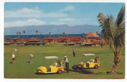 SPORTS GOLF ROYAL LAHANIA GOLF COURSE AT KAANAPALI BEACH ISLAND OF MAUI HAWAIIAN ISLANDS OLD POSTCARD - Golf