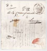 MARQUE POSTALE  THIENNE  1845 AVEC CORRESPONDANCE - Italia
