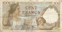 BILLET  100 FRANCS  SULLY 30/4/1941 - 1871-1952 Gedurende De XXste In Omloop