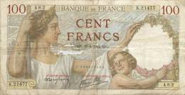 BILLET  100 FRANCS  SULLY 30/4/1941 - 1871-1952 Anciens Francs Circulés Au XXème