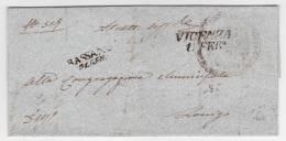 MARQUE POSTALE VICENZA 1851  AVEC CORRESPONDANCE - Italia