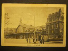 TOURCOING Bahnhof Feldpostkarte Gelaufen Febr.1918 - Gares - Avec Trains