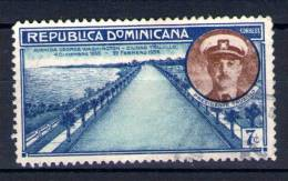 """Timbre République  Dominicaine """" REPUBLICA DOMINICANA Oblitéré  AVENIDA GEORGES WASHINGTON TRUJILLO - Dominicaine (République)"""