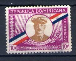 """Timbre République  Dominicaine """" REPUBLICA DOMINICANA Oblitéré  PRESIDENTE TRUJILLO - Dominicaine (République)"""