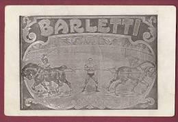 CIRQUE - 050512 - BARLETTI  Affiche - Circo