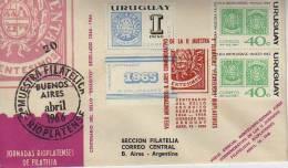 VUELO ESPECIAL MONTEVIDEO BUENOS AIRES  FDC SPECIAL COVER URUGUAY  OHL - Uruguay