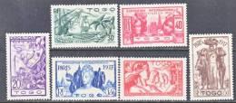 Togo 258-63   *  PARIS  WORLD  FAIR - Togo (1914-1960)