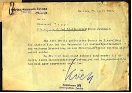 1938 - Wehrbez. Kommando Zwickau - Gesuch Und Antwort - Einstellung Als Angestellter Bei Der Wehrmacht - Historical Documents