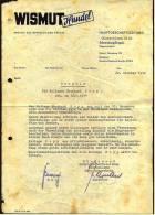1952  Zeugnis Von Wismut Handel Schneeberg / Erzgebirge - Historical Documents