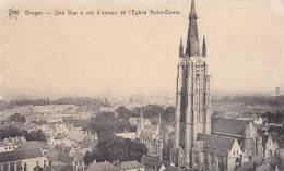 Belgium Bruges Une Vue a vol d'oiseau de l'Eglise Notre Dame
