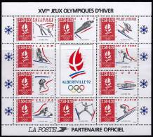 """.Yvert BF-14 - """"Albertville '92"""". Jeux Olympiques D'hiver. (**) - Mint/Hinged"""