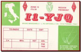 Italy - QSL Unused Radio Card Turin, Torino, Map / I1YJQ - Radio Amatoriale