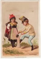 CHROMO Baster & Vieillemard Autriche Couple Militaire Poupée - Trade Cards