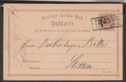 D.R.P1,mit Nachverw.Preußen-o,Grünberg (3026) - Covers & Documents