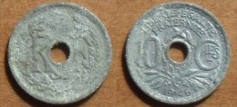 1946 - France - 10 CENTIMES, (B), Lindauer, Gouvt Provisoire, Zinc, Petit Module - France