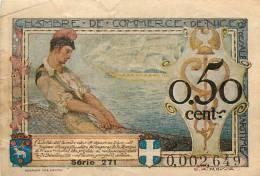 BILLET CHAMBRE DE COMMERCE DE NICE 50 CENTIMES  1920 - Chambre De Commerce