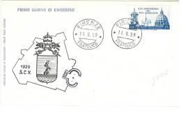 PATTI LATERANENSI  - ANNO 1959 - FDC - N.Q.  - ITALIA REPUBBLICA - FIRST DAY COVER - 6. 1946-.. Repubblica