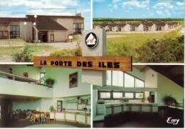 """CPM PORTBAIL (Manche) - Village Vacances """"La Porte Des Iles"""" 4 Vues - France"""