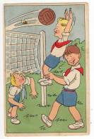 SPORTS SOCCER BOY PLAYING OLD POSTCARD - Soccer