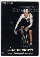SPORTS CYCLING VITO DI TANO SUPERBICICLE GUERCIOTTI  POSTCARD 1987. - Cycling