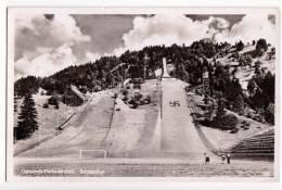 SPORTS WINTER SPORTS GARMISCH-PARTENKIRCHEN SKI STADIUM OLYMPIC WWII OLD POSTCARD - Winter Sports