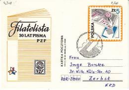 Polen Warschau 1985. Presse Press. Ganzsache 30 J. Philatelitische Presse Mit SST Warschau Italia '85 (4.308) - 1944-.... Republik