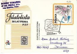 Polen 1985. Presse Press. Ganzsache 30 Jahre Philatelistische Presse Mit SST Warschau (4.309) - 1944-.... Republik