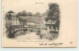 SAINT PIERRE -  Le Pont De Pierre Avant Le 8 Mai 1902. - Unclassified