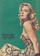 ACTORS MAGAZINE FILMSKI VJESNIK COVER PAGE ZULLY MORENO BACK PAGE JOHN GAVIN 16 PAGES SIZE 22X3 - Slav Languages