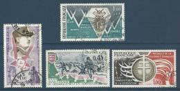 """FR YT 1796 1797 1799 1821 """" Anniversaire De La Libération """" 1974 Oblitérés - Francia"""