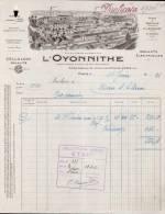 L'OYONNITHE, CELLULOIDE A PARIS /  FACTURE DATEE 1931 - France