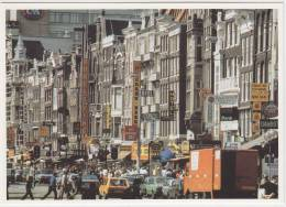Amsterdam - Damrak: VW GOLF, BMW 520, TRUCK, 'Amstel Bier' Neon - PKW