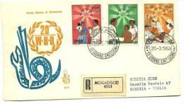 1968 - Somalia 80/82 Org. Mondiale Sanità FDC     12/74 - WHO