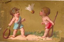 """Chromos """"Au Bon Marché""""/Aristide Boucicaut /Jeux/Volant/Testu & Massin/vers 1880-85       IM304 - Au Bon Marché"""