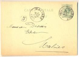 1p798: 5 Ct CARTE POSTALE - POSTKAART : E9: THOUROUT  > MALINES - Postkaarten [1871-09]