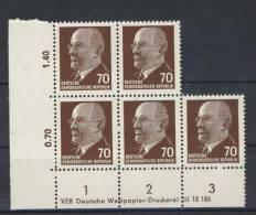 DDR Michel Nr. 938 X x I DV 1 ** postfrisch MNH / DV Druckvermerk
