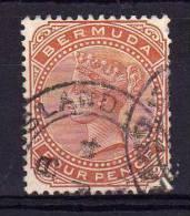 Bermuda - 1865 - Queen Victoria 4d Definitive - Used - Bermudes
