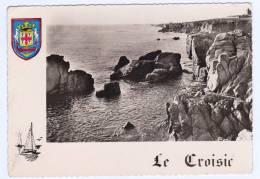(RECTO / VERSO) LE CROISIC - EN 1957 - LA COTE SAUVAGE - BELLE FLAMME POSTALE - Le Croisic