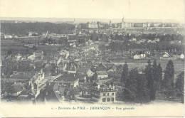 ENVIRONS DE PAU - JURANCON VUE GENERALE CAP CIRCA 1910 DOS DIVISE UNCIRCULATED NR. 1 RARE